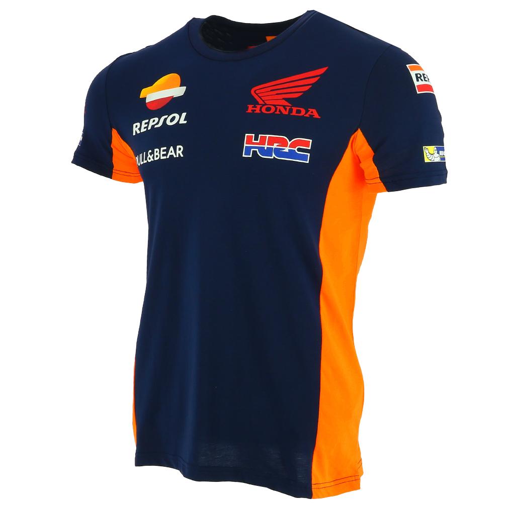 Honda repsol moto gp team blue marquez pedrosa t shirt for Stoner t shirts india