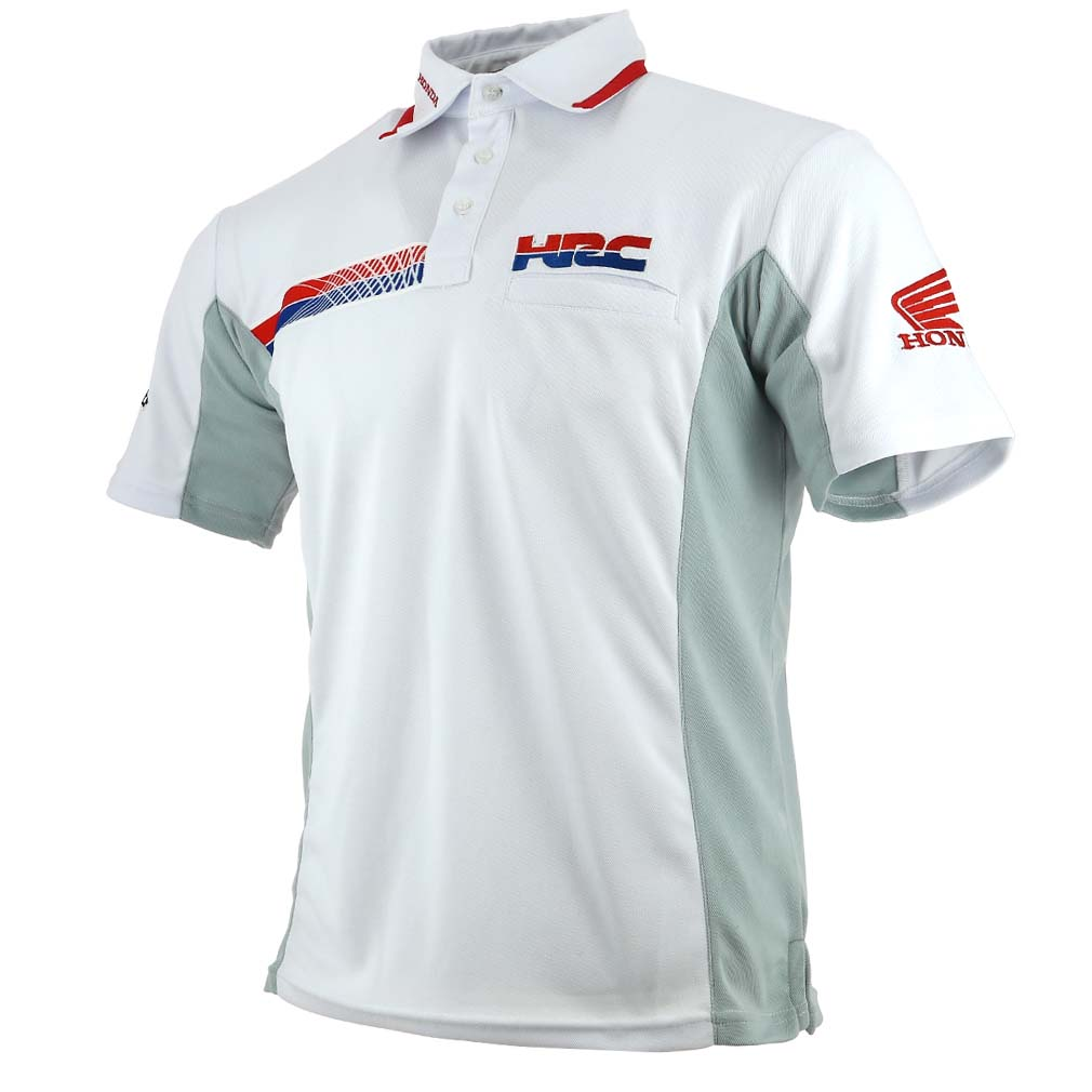 Honda Hrc Moto Gp Team Logo White Polo Shirt Official 2017