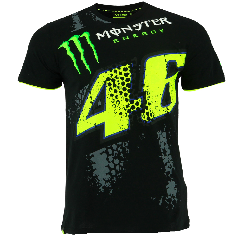 Valentino Rossi Vr46 Moto Gp Black Monster Energy T Shirt