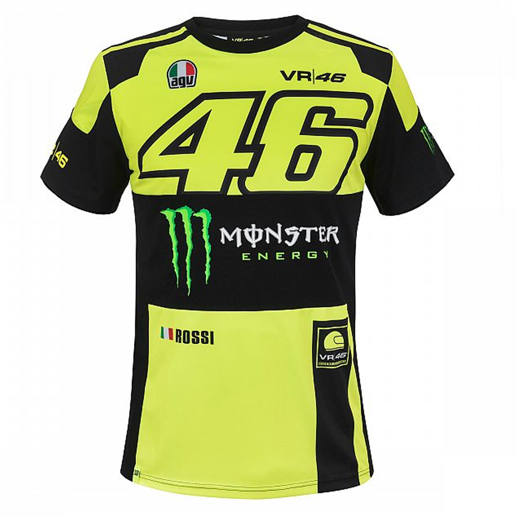 valentino rossi vr46 moto gp monster energy t shirt. Black Bedroom Furniture Sets. Home Design Ideas