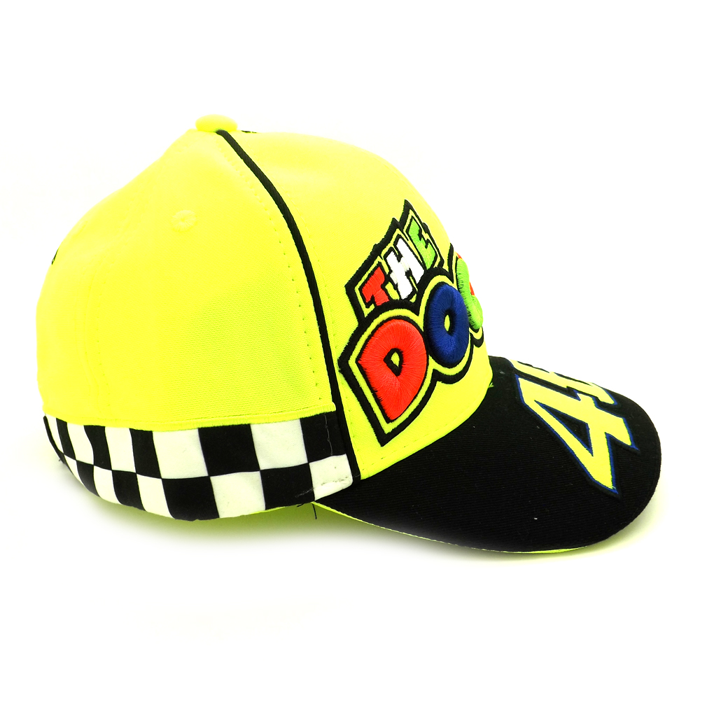 valentino rossi vr46 moto gp the doctor yellow cap. Black Bedroom Furniture Sets. Home Design Ideas