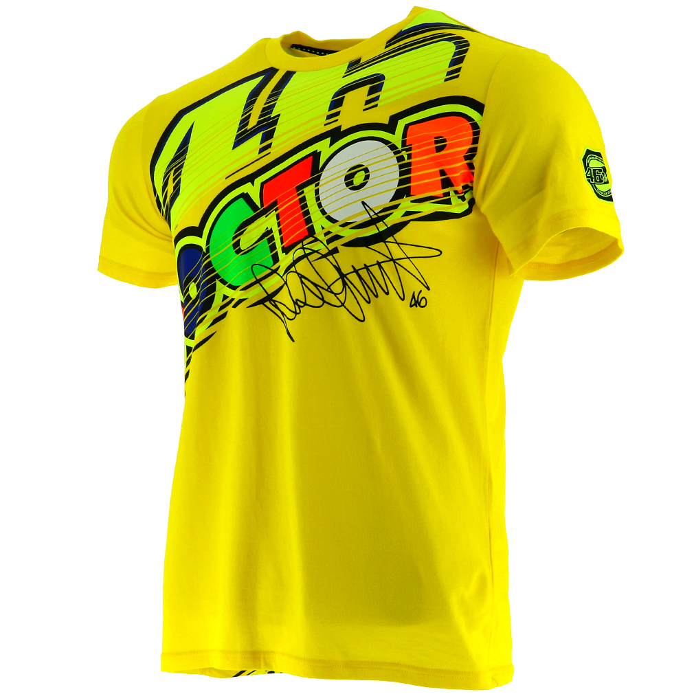 Valentino Rossi Vr46 Moto Gp The Doctor Yellow T Shirt