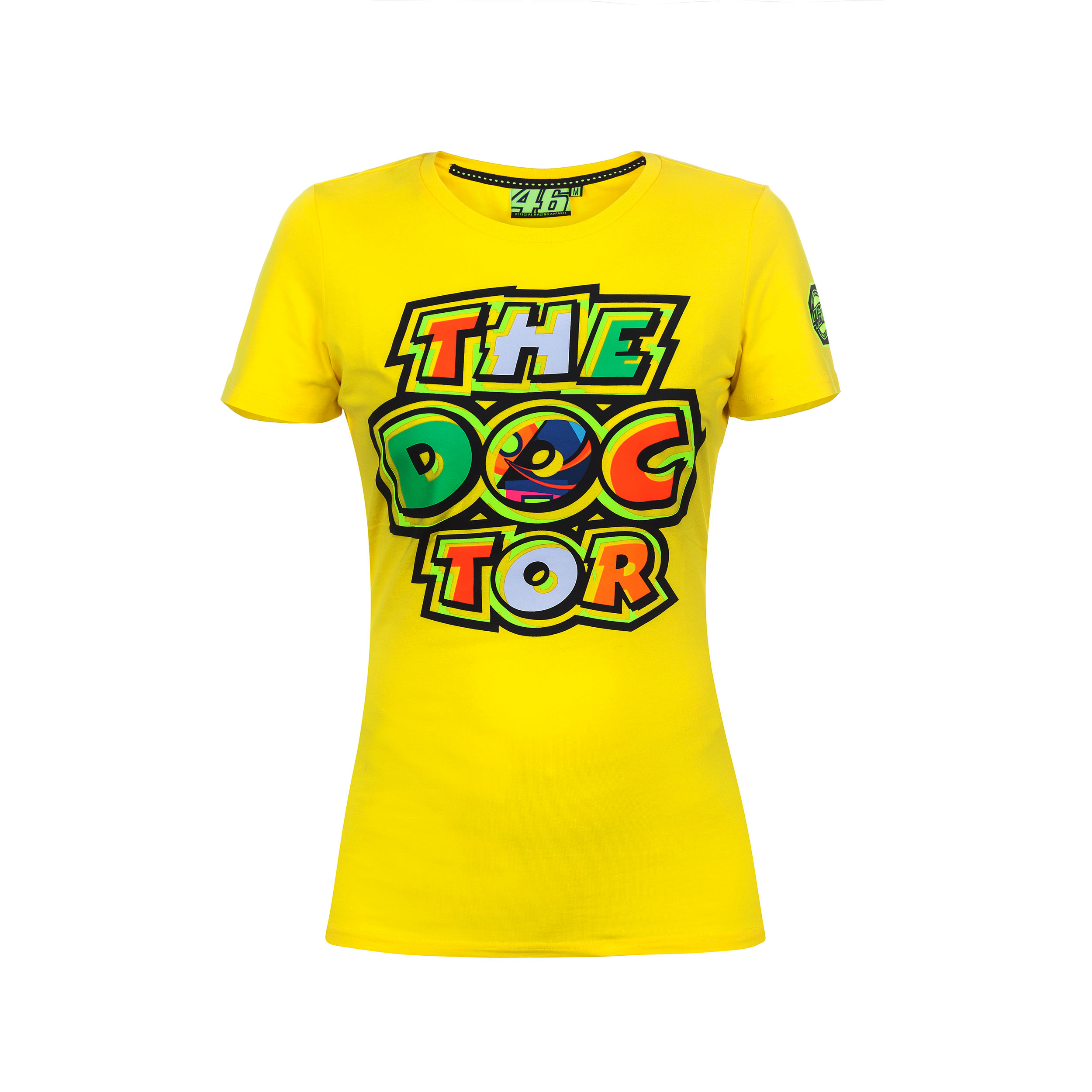 1dcc9c9e Details about Valentino Rossi VR46 Moto GP The Doctor Women's Yellow T-shirt  Official 2017