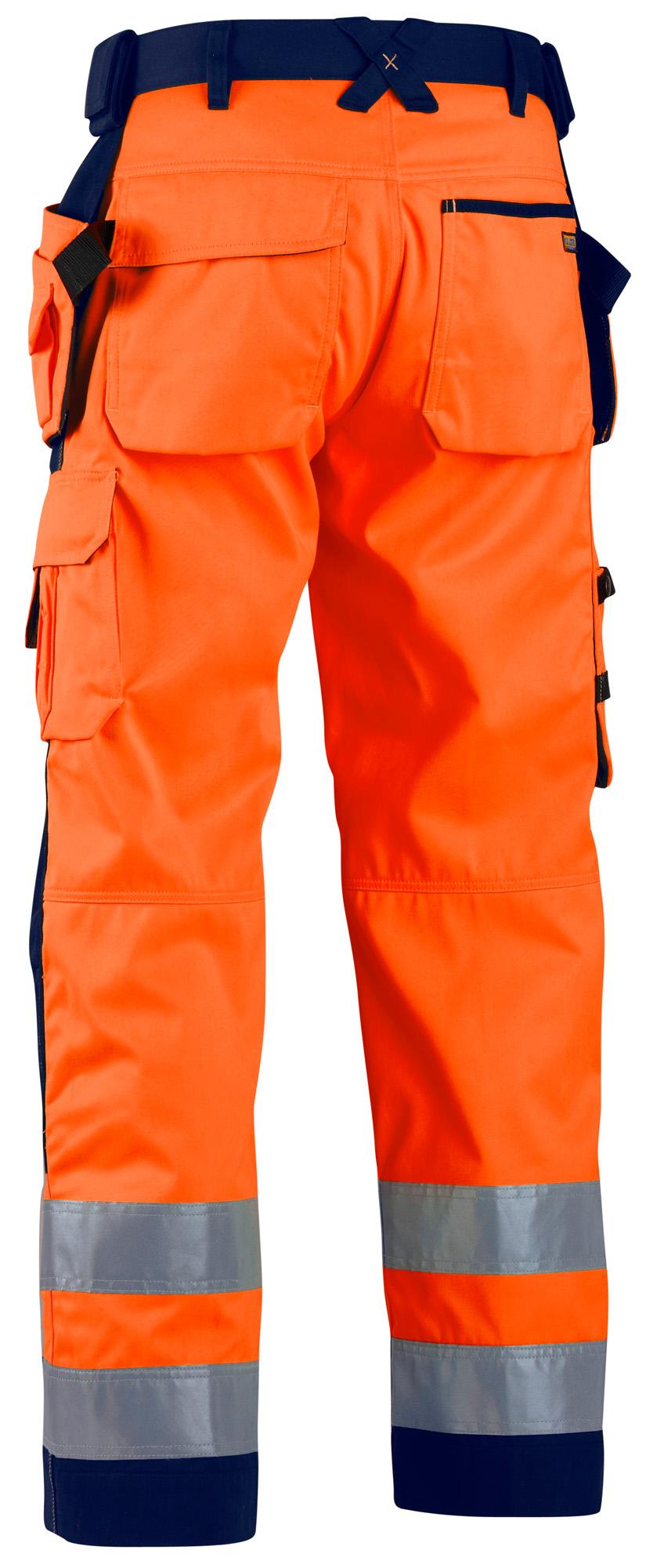 BLAKLADER BLAKLADER BLAKLADER Hi Vis Pantaloni Idrorepellente Knee & Nail tasche (Polycot) - 1568 696ef6