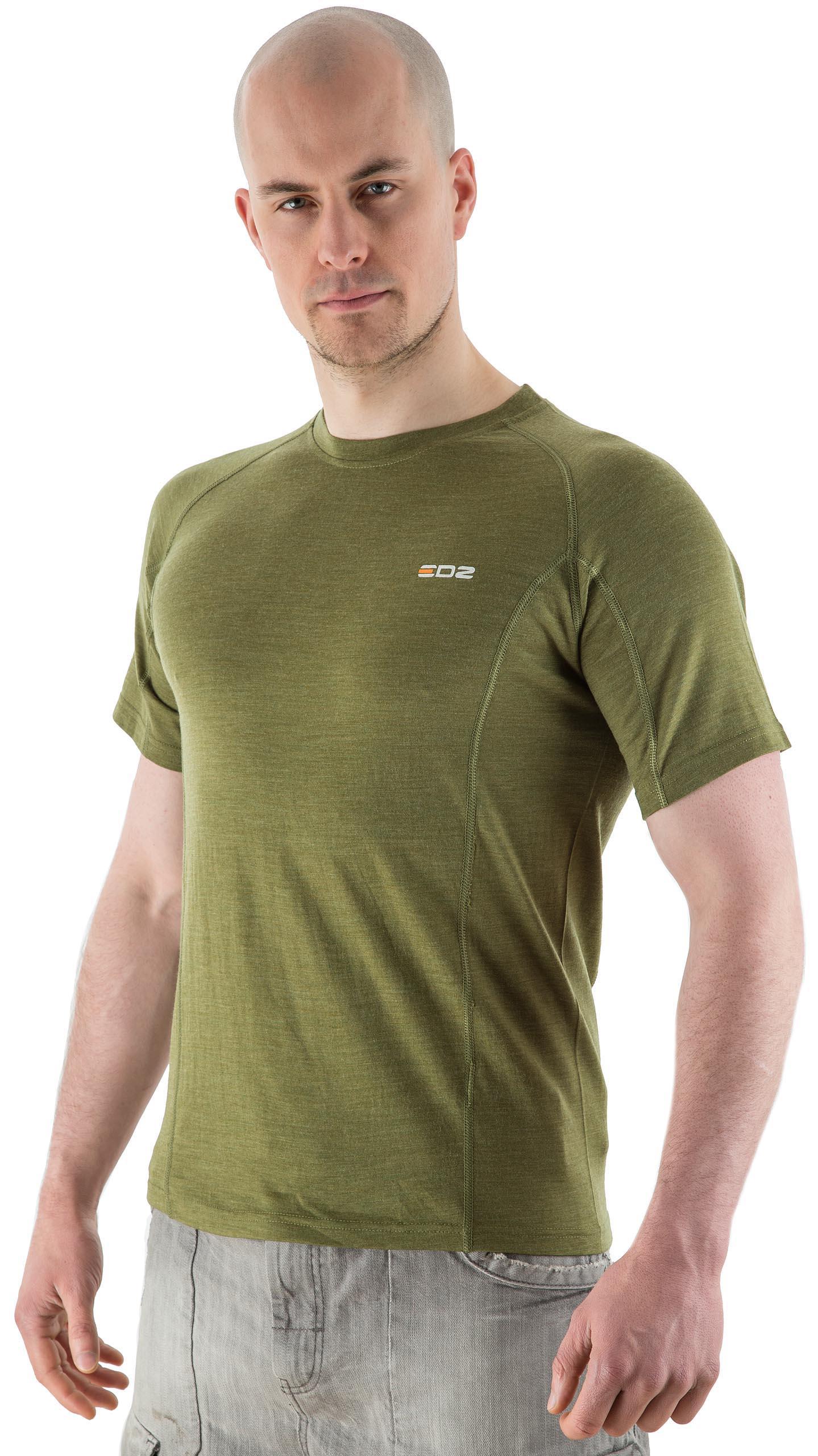 edz 200g men 39 s merino wool base layer t shirt olive green. Black Bedroom Furniture Sets. Home Design Ideas