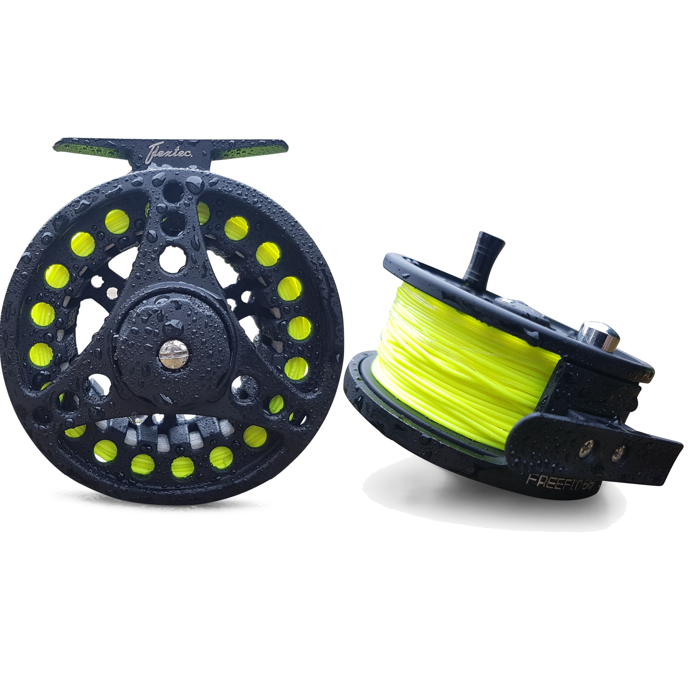 Flextec-Carbon-Fibre-Fly-Fishing-Rod-kit-with-Fly-Reel-Floating-Line-All-Sizes miniatuur 7
