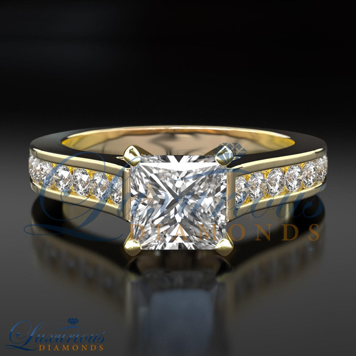 1.15 Carat Anniversary Diamond Ring F SI Solitaire ...
