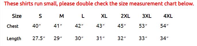 Atomic Tiki Size Chart
