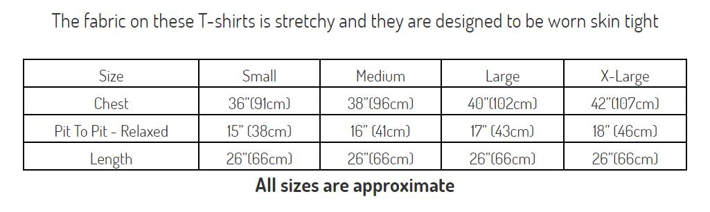 Fans London Size Chart