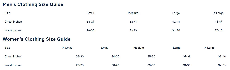 Fila Size Chart