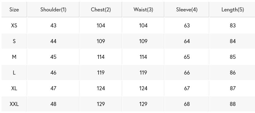 Gloverall Duffel Coat Size Chart
