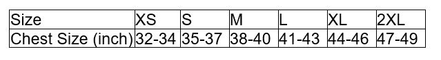 Tootal Harrington Jacket Size Chart