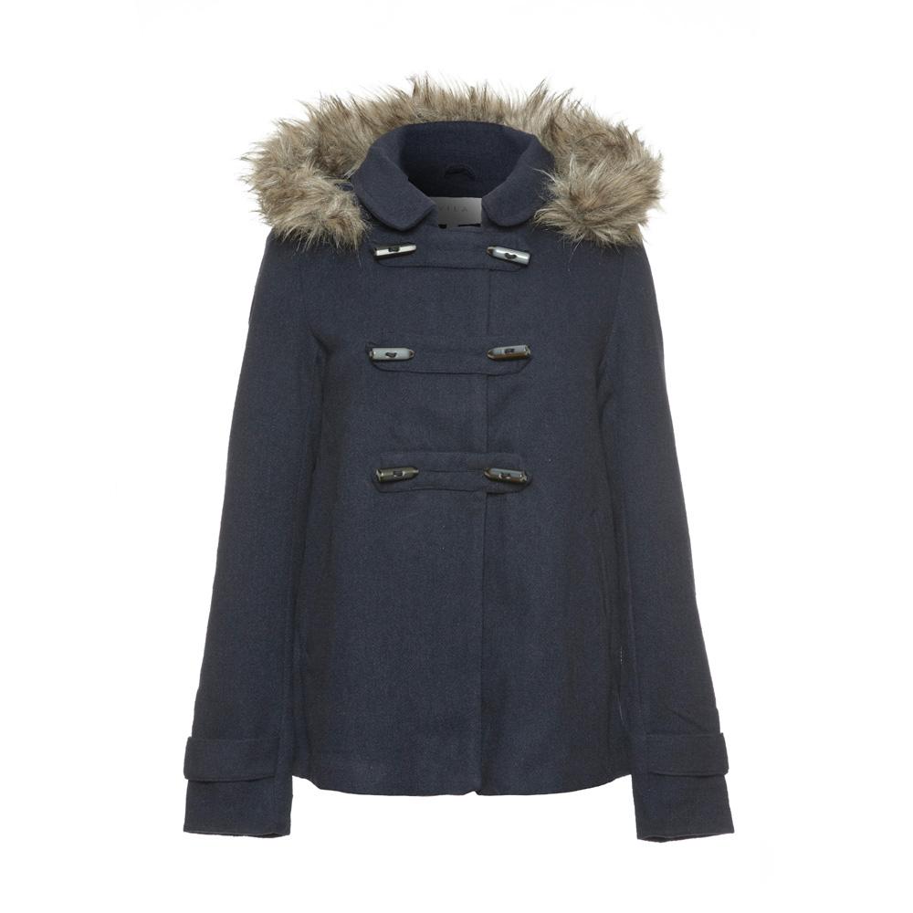 Womens blue duffle coat