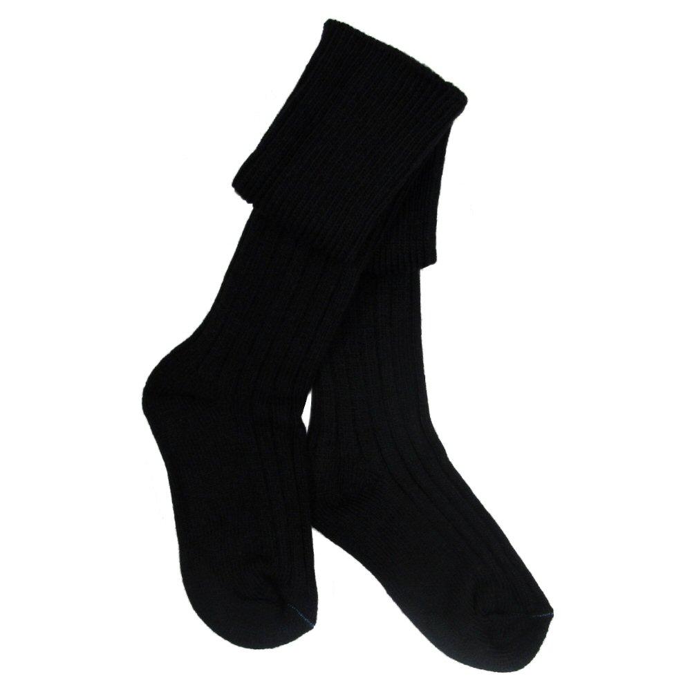 Chaussettes-de-kilt-pour-garcon-laine-melangee-noir-ecru