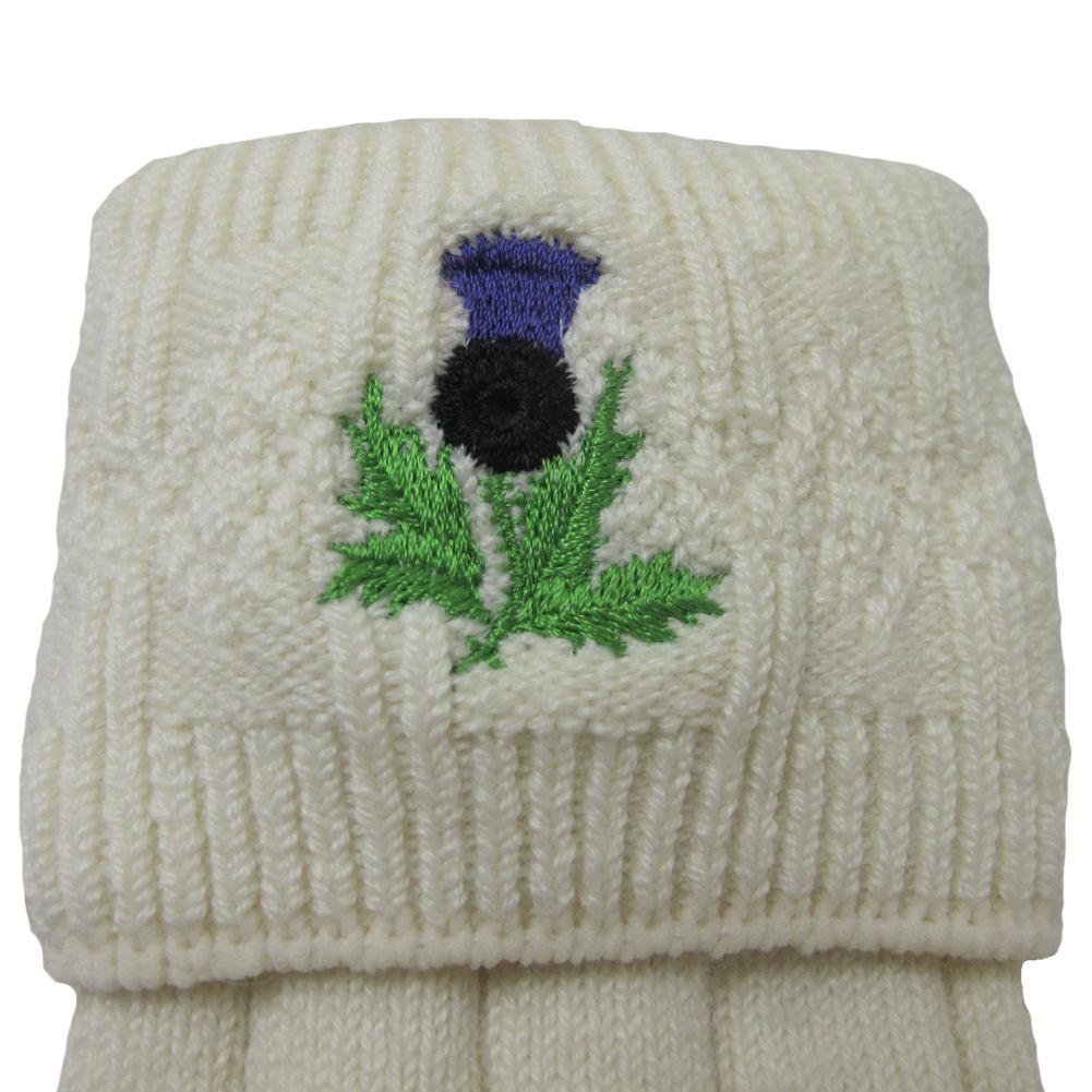 Brewin Mens Shamrock Embroidered Kilt Hose W