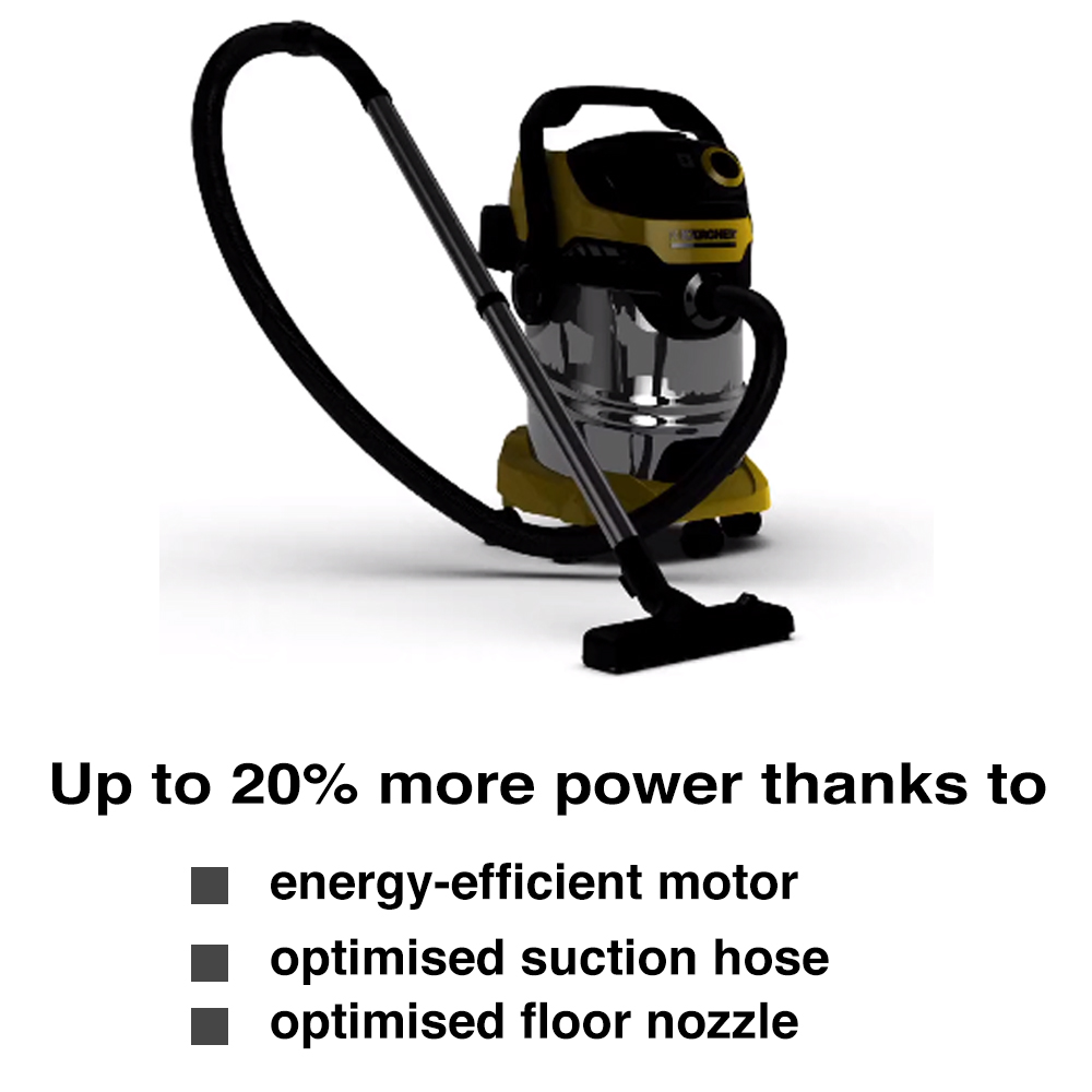 Karcher Premium Wet Dry Vacuum Cleaner Stainless Steel Vac Wd4 Mv 4 And Product Features