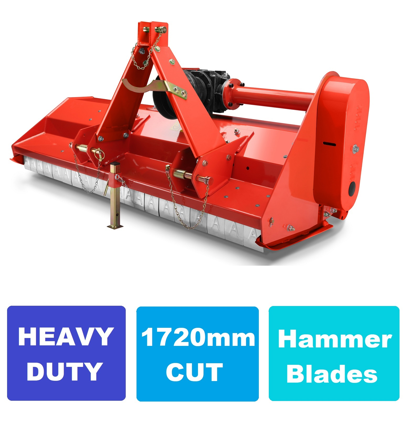 Details about Flail Mower 5 5 ft Tractor Mulcher Heavy Duty 1720mm with  hammer blades slasher