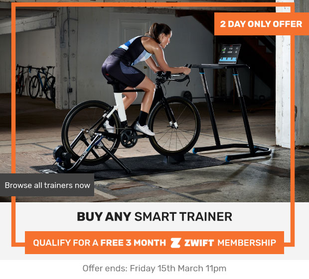 ▷ Buy any Smart Trainer get a FREE 3 MONTH ZWIFT membership