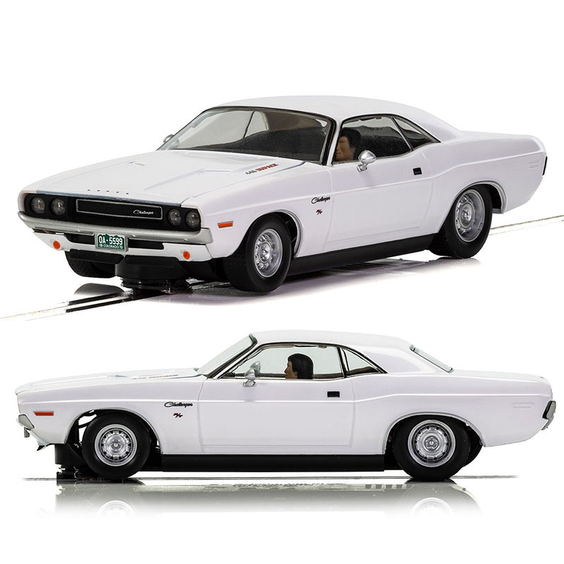 SCALEXTRIC Slot Car C3935 Dodge Challenger 1970, white