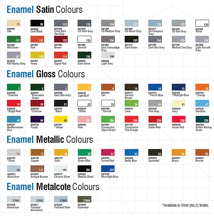 Tamiya Paint Colors Enamel