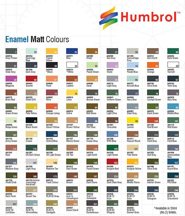 Humbrol 9 X Enamel Model Paint 14ml Choose Your Colours