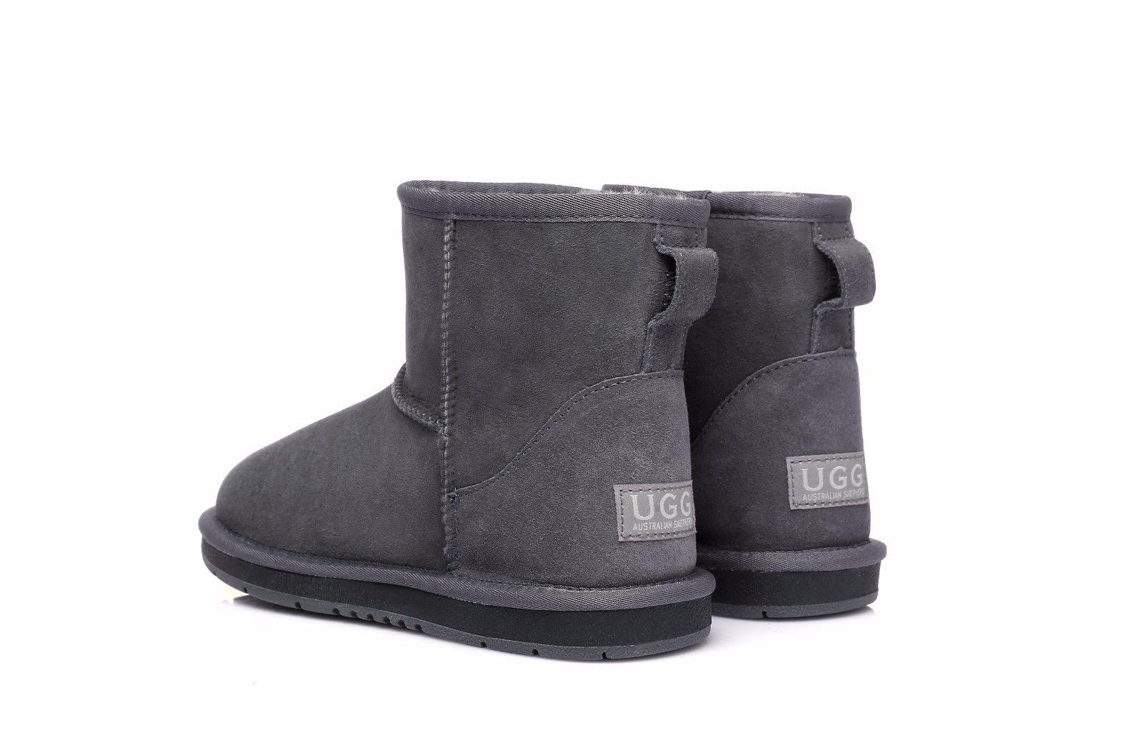 Ugg-Boots-Women-Men-Mini-Classic-Australian-Sheepskin-Ankle-Water-Resistant