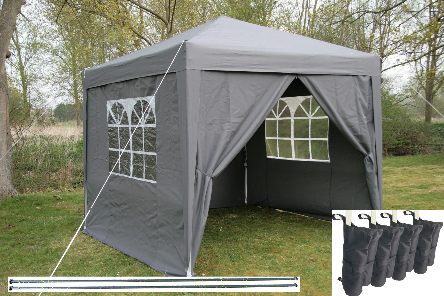 airwave pop up gazebo tanche pavillon de jardin 2 windbars 4 jambe poids ebay. Black Bedroom Furniture Sets. Home Design Ideas