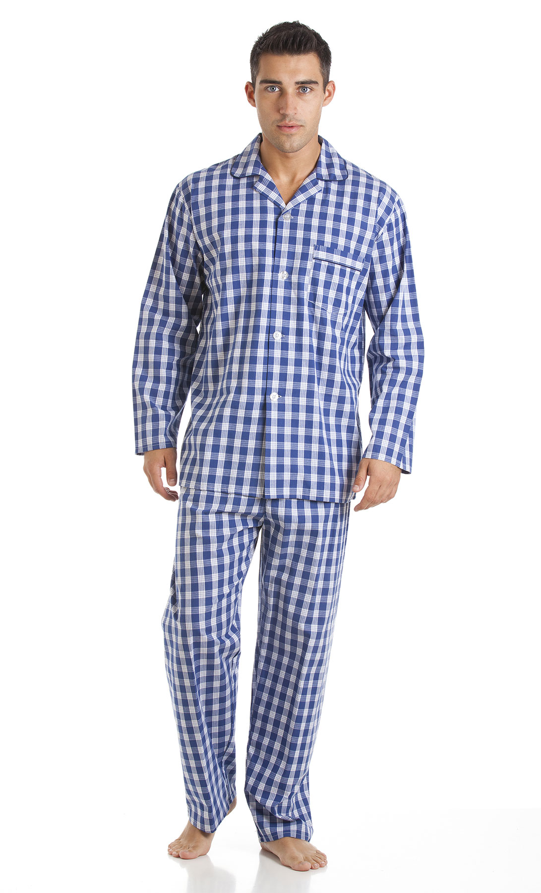 Mens Haigman Printed 100 Cotton Long Pyjama Nightwear Lounge Wear 2x ... 9c303b4e7