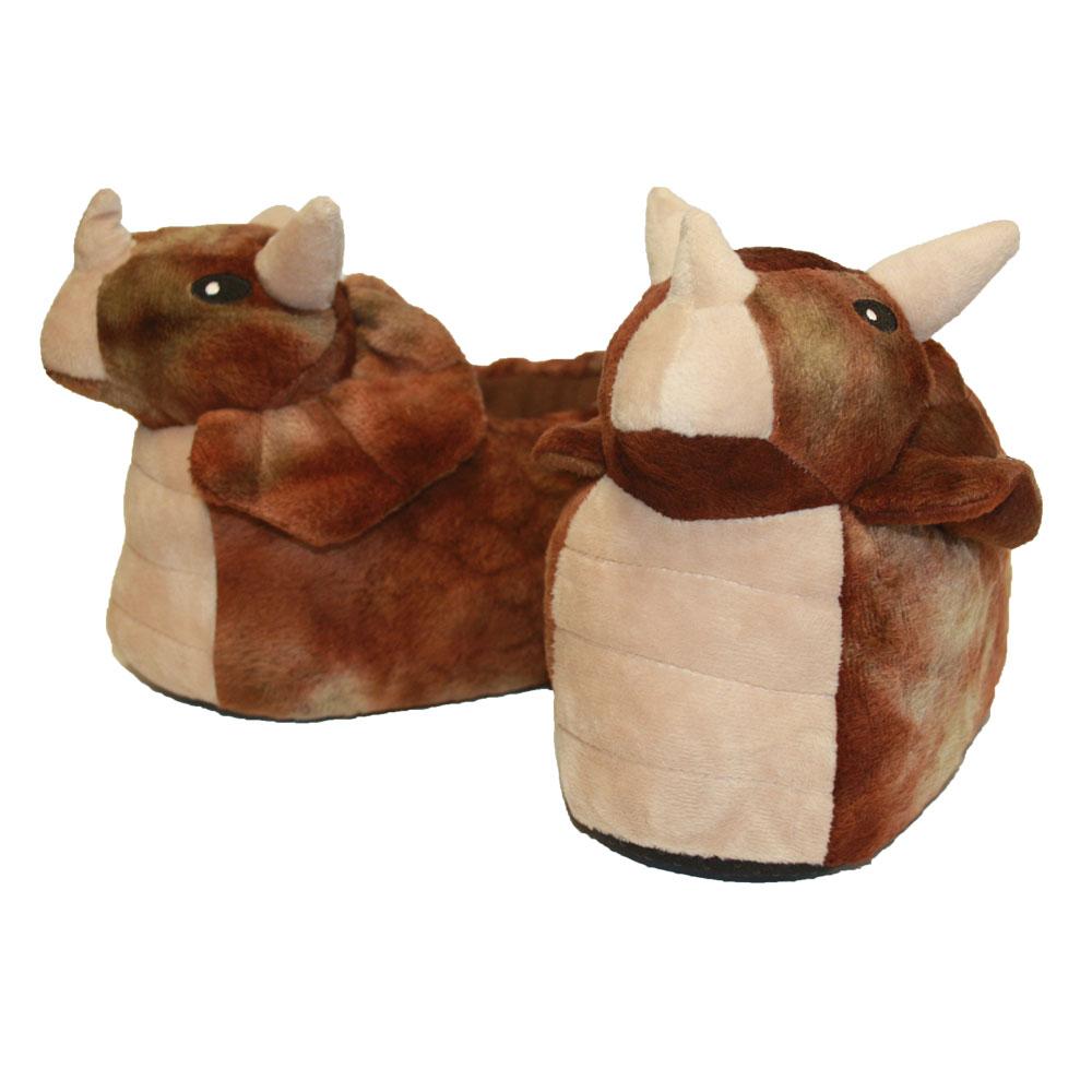 Slumberzzz Niños Chicos Novedad 3D Dinosaurio Diseño Polar Cálido Zapatillas Slip-on