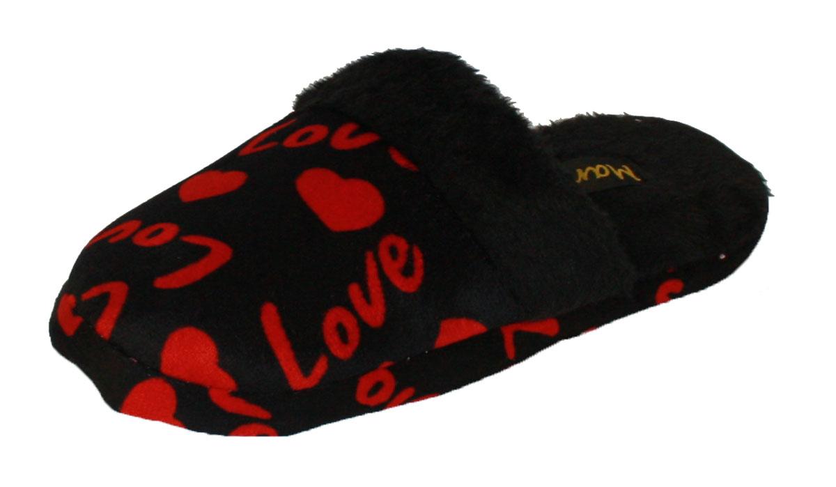 Las Nuevas Señoras Polar Mula Pantufla refrigeradores Amor Corazón Estampado Con Forro Polar A18