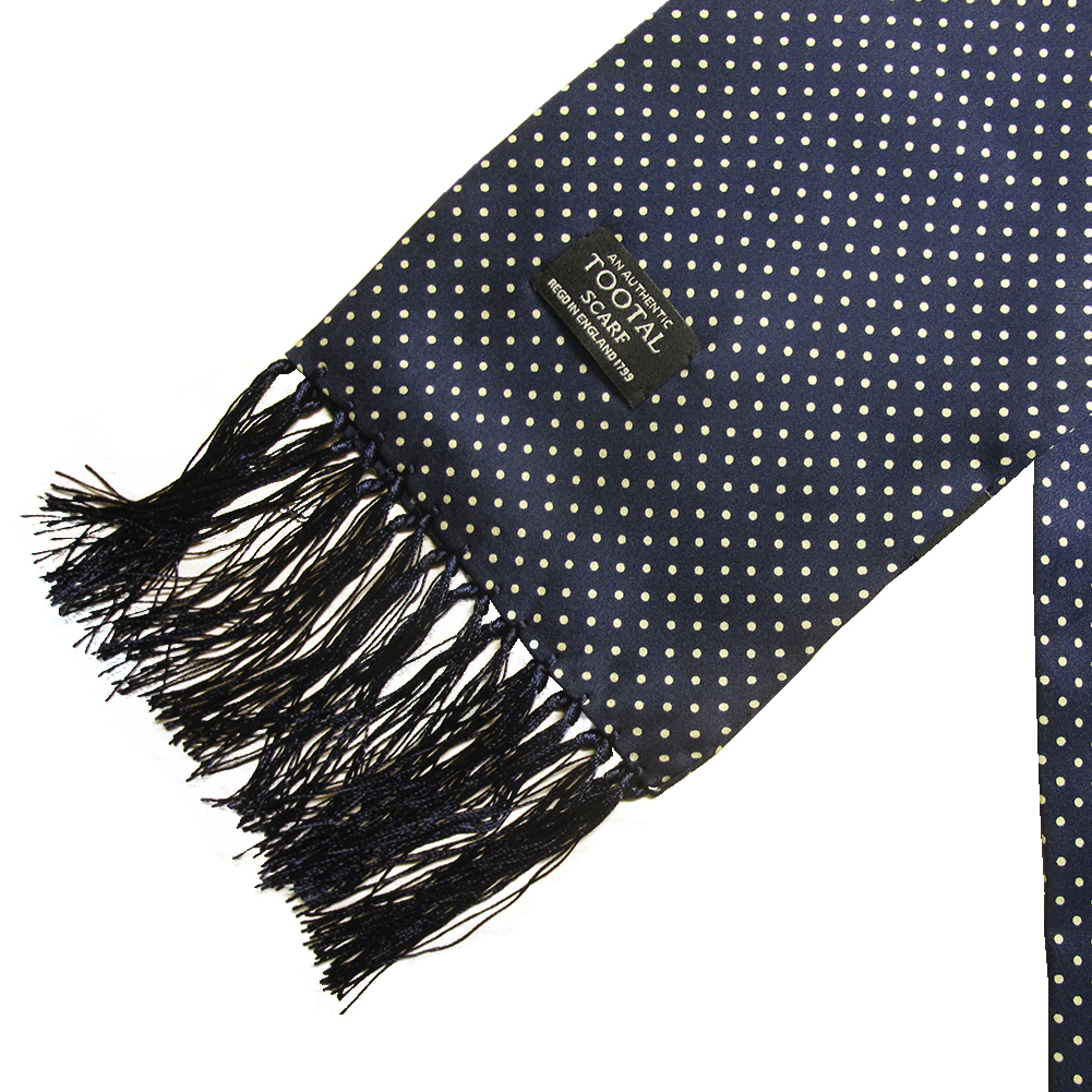 Mens-Tootal-Vintage-60s-Mod-100-Silk-Fringed-Scarf thumbnail 5