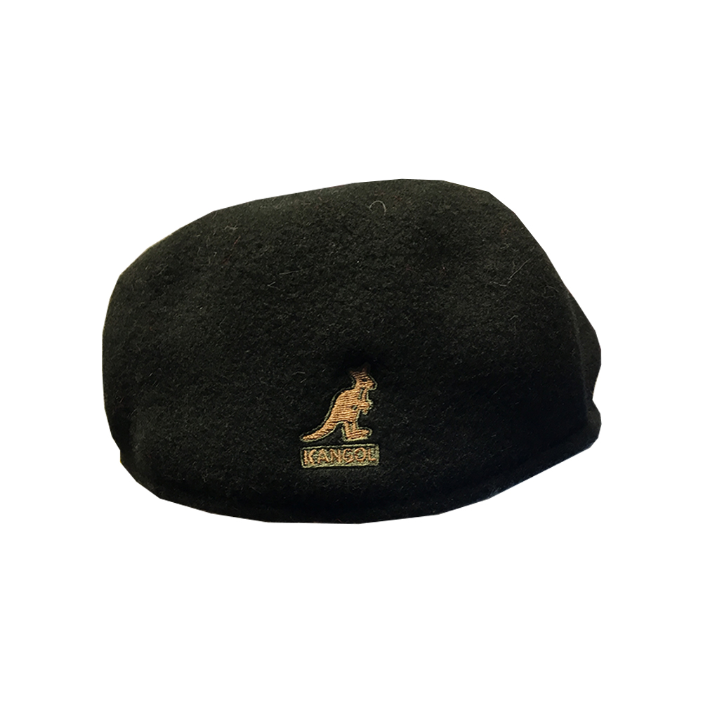 4f395cce3 Details about Kangol Flat Cap Style 504 With Kangaroo Logo Black, Burgundy,  Blue