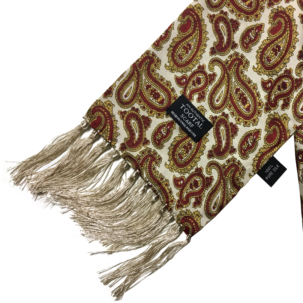 Mens-Tootal-Vintage-60s-Mod-100-Silk-Fringed-Scarf thumbnail 9