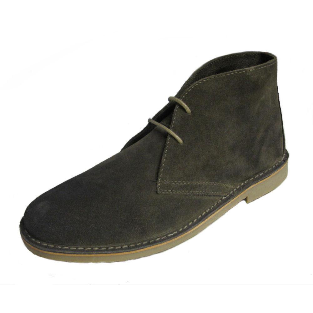 Mens IKON Original Classic Gobi Beige Suede Leather Mod Desert Boots 7-12