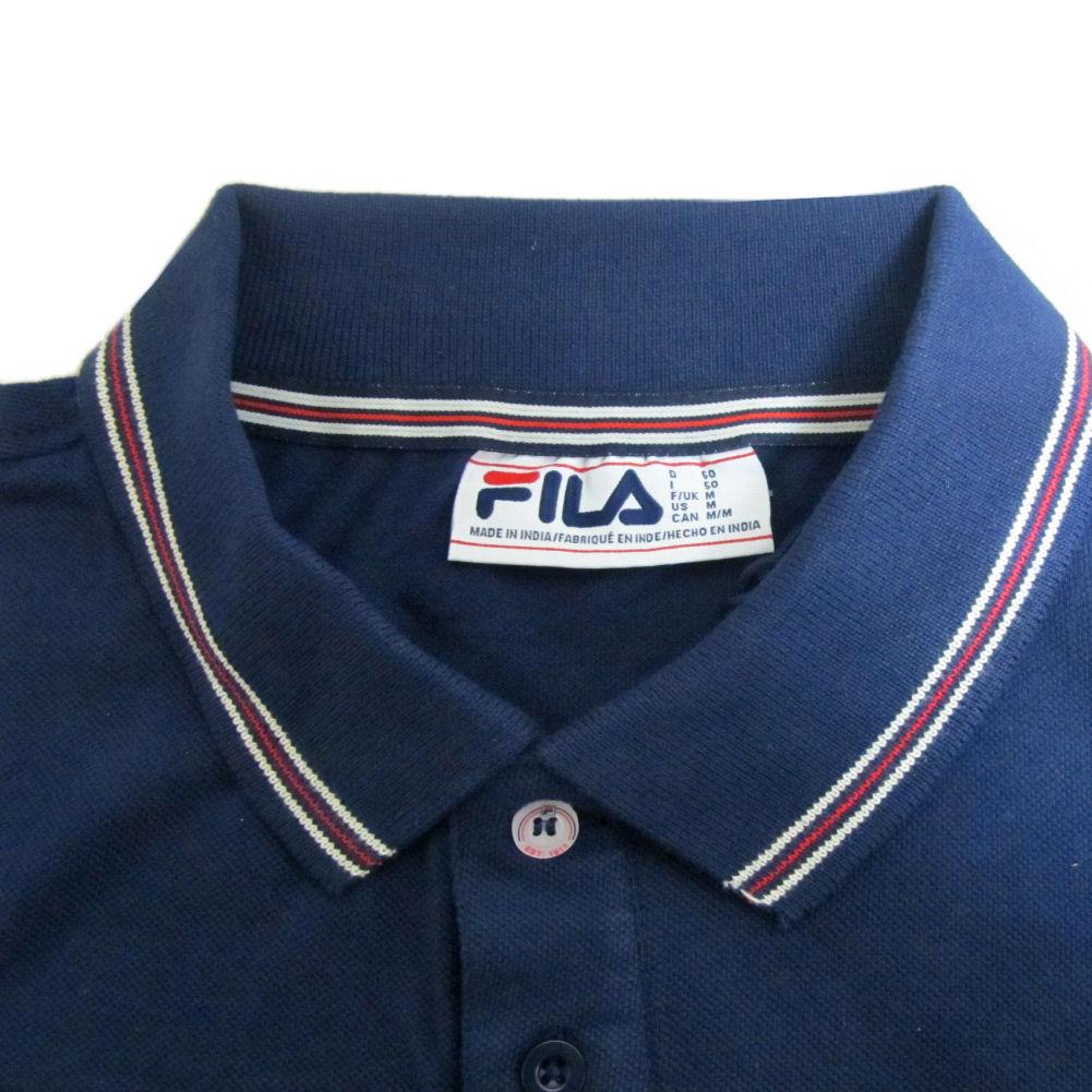 Mens Fila Vintage White Line Matcho 4 Tipped Polo Shirt