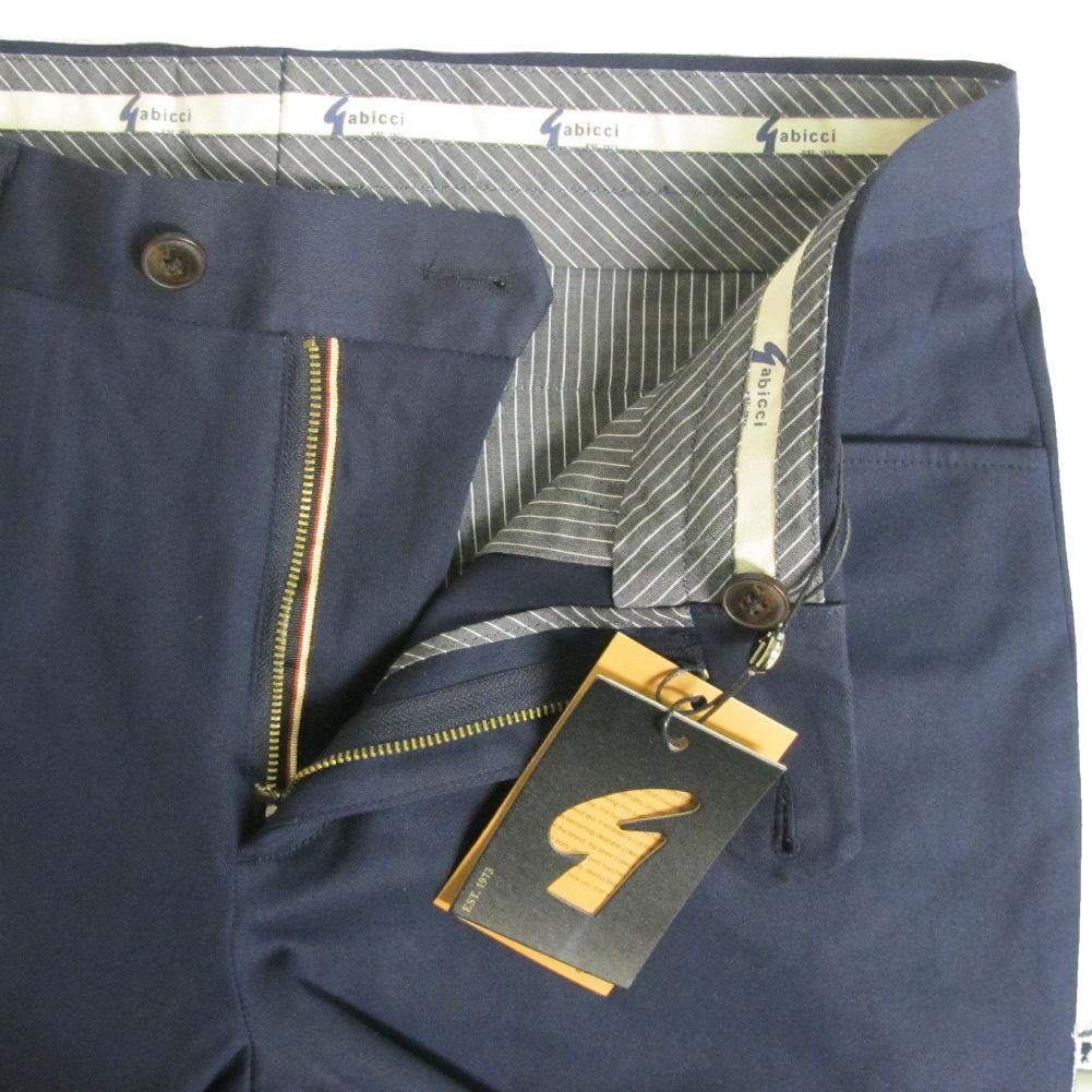 Gabicci Mens Curtis Retro Slim Trousers Navy