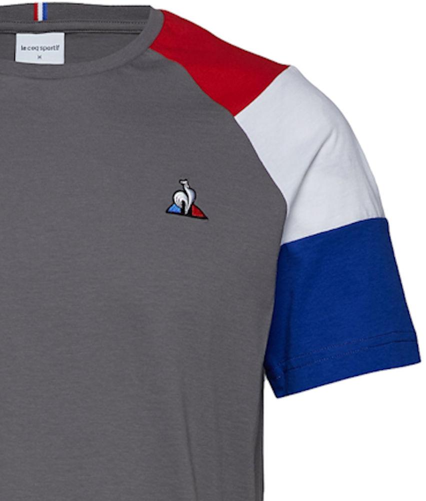 a323c0d8da Mens Le Coq Sportif Essentials Short Sleeve Vintage Tricolour T ...
