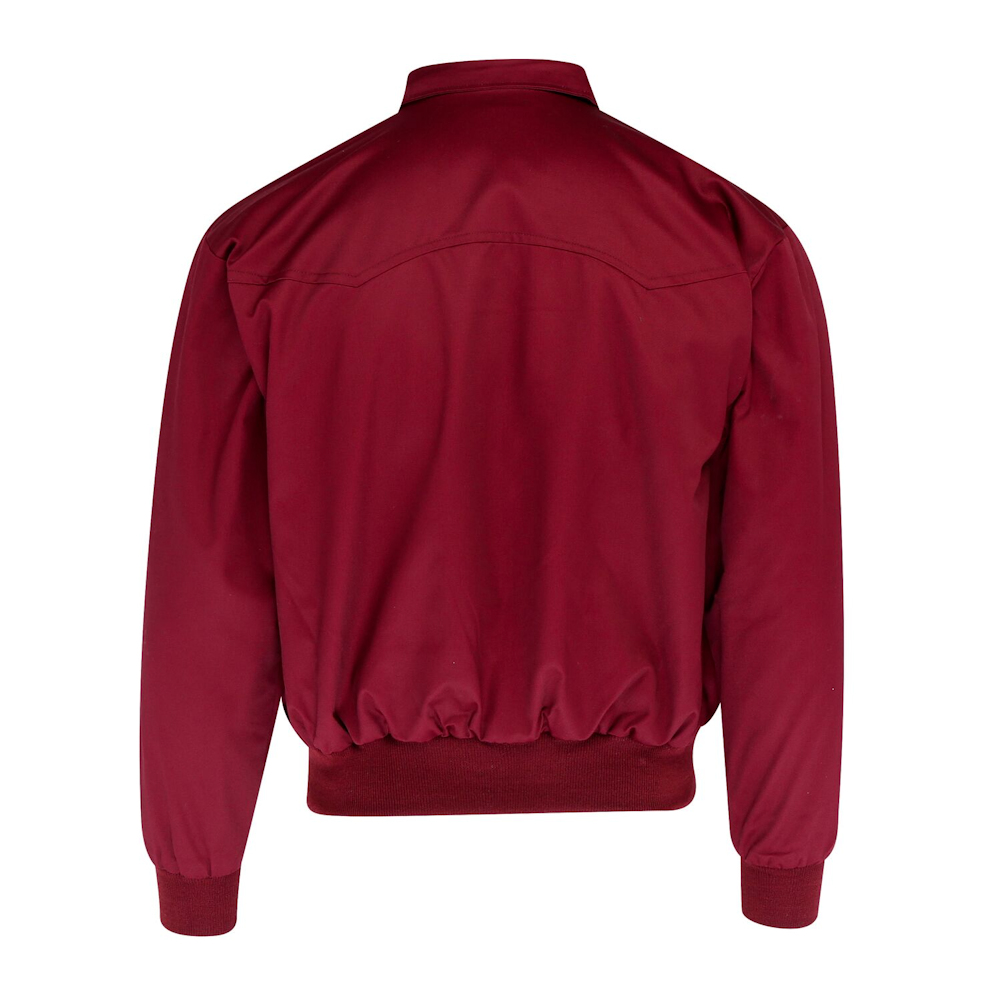 Men/'s Harrington Jacket Burgundy Wine Bomber Tartan Lined Relco Skinheads Mods