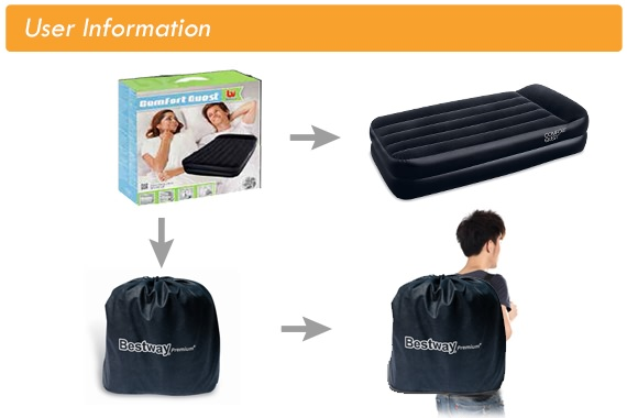 Outbaxcamping 5th Scenario Bestway Luxury Air Bed