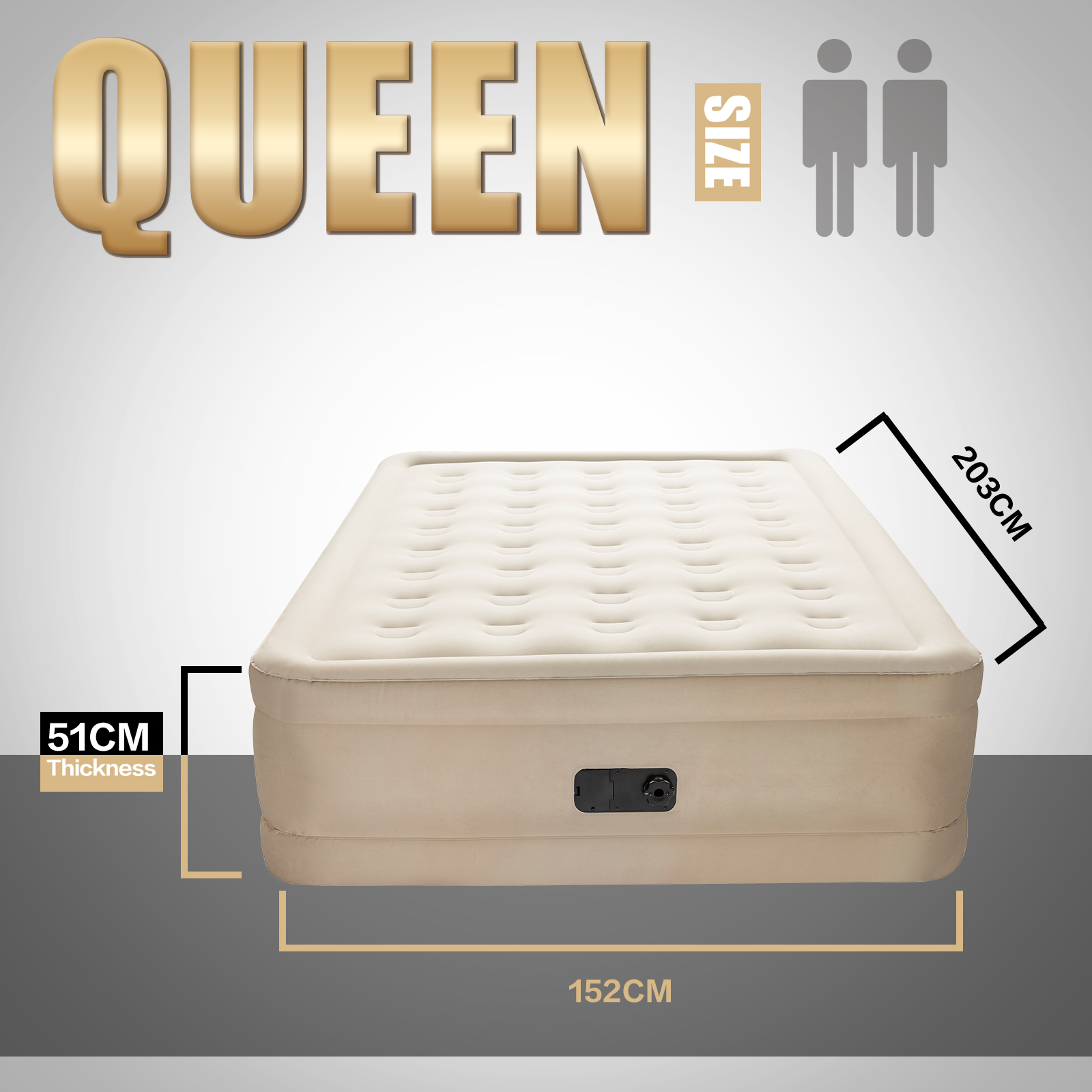 Bestway Air Bed Inflatable Luxury Queen Blow Up Mattress ...