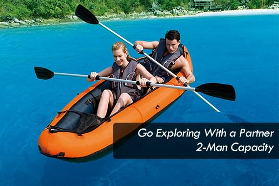 Outbaxcamping 8th Scenario Bestway Inflatable Sit-On Kayak