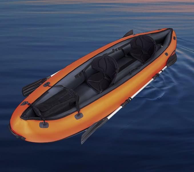 New bestway inflatable kayak sit on double twin fishing for Double fishing kayak