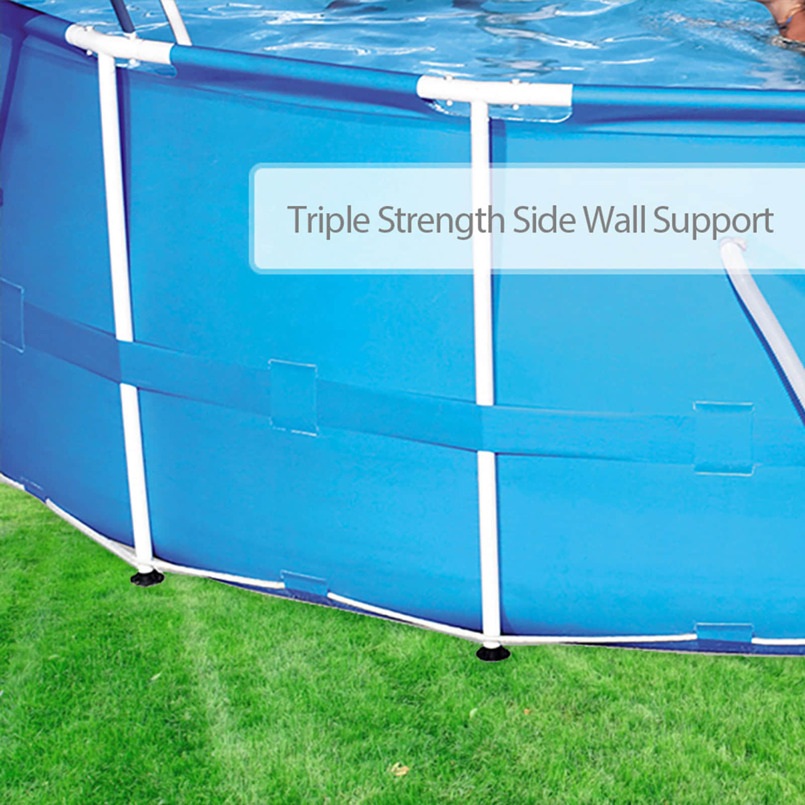 Bestway above ground swimming pool round steel frame filter pump15ft 457cm 657664803531 ebay for Steel above ground swimming pools