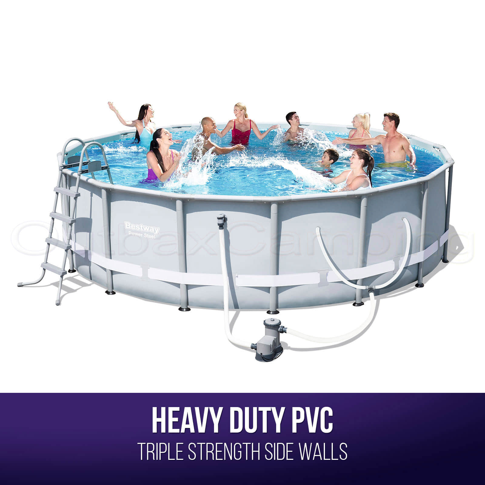 BESTWAY ABOVE GROUND Swimming Pool Metal Frame Filter Pump 16ft 20L ...