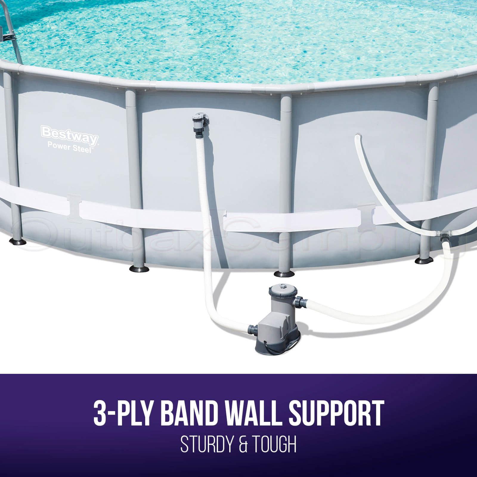 BESTWAY ABOVE GROUND Swimming Pool Metal Frame Filter Pump 16ft 20L ...