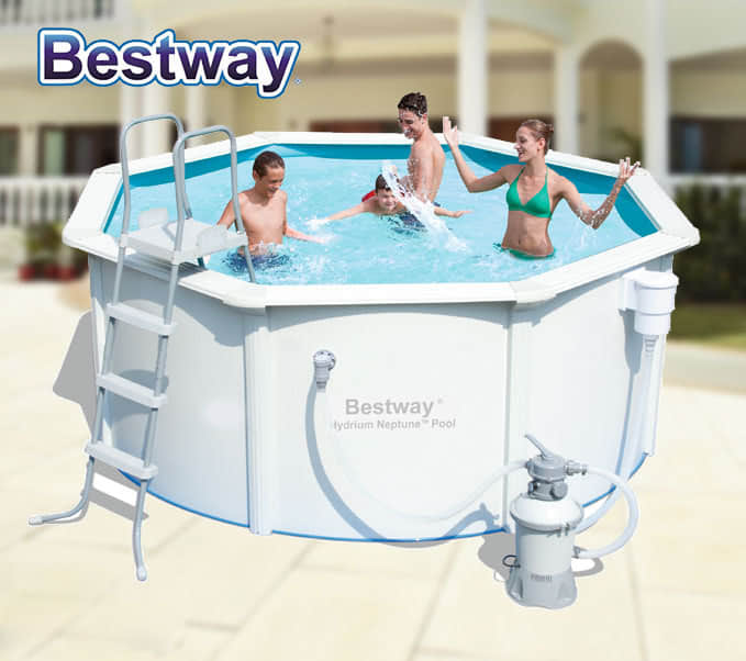 New Bestway Above Ground Swimming Pool Steel Pro Frame Sand Filter Pump 56567 Ebay