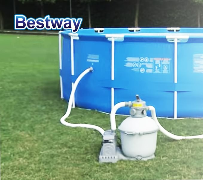 New Bestway 2000gph Sand Filter Pump 58315 For Above Ground Swimming Pool Ebay