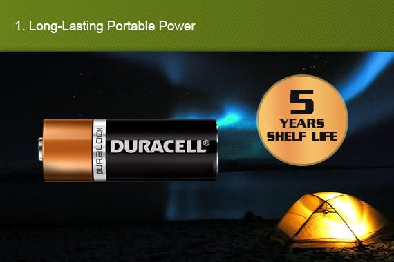 Outbaxcamping 1st Scenario Genuine Duracell D2 X2