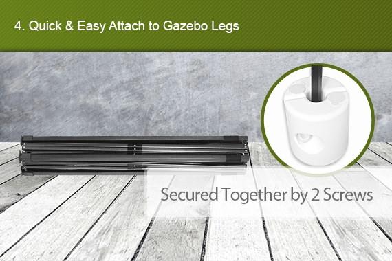 Outbaxcamping 4th Scenario 4x Gazebo Leg Base