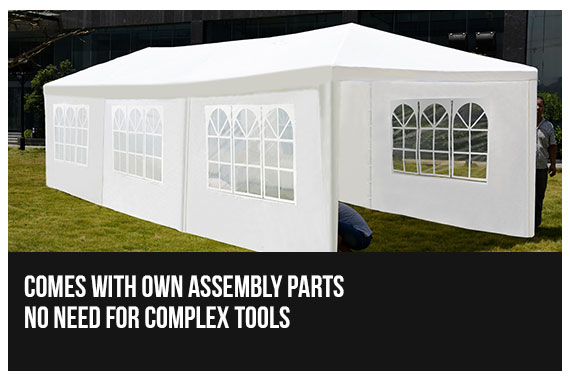 PERFECT OASIS 3x9 GAZEBO PARTY WEDDING EVENT PAVILION White TENT SHADE CANOPY : no white tent - memphite.com